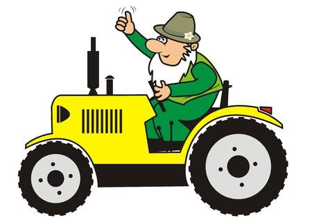 dealerships: Farmer illustration  Illustration
