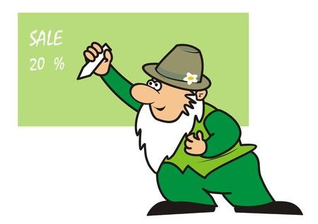 dealerships: gardener - businessman illustration