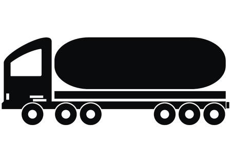 lorry - tank illustration  Illustration