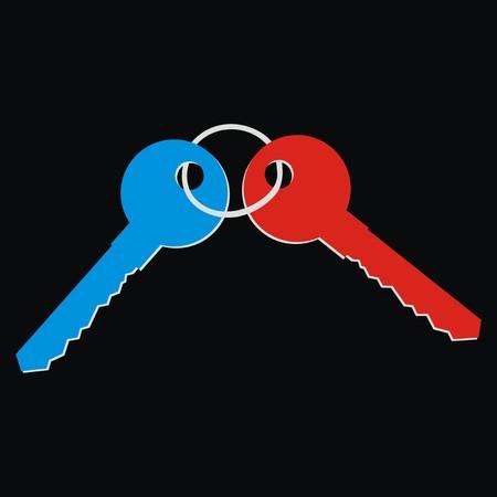 two keys illustration  Stock Vector - 27311673