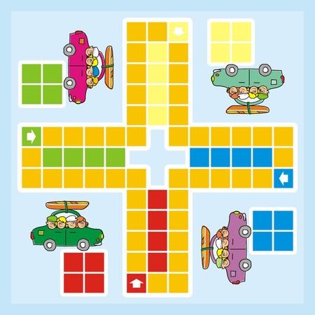 parlour games: Ludo illustration  Illustration