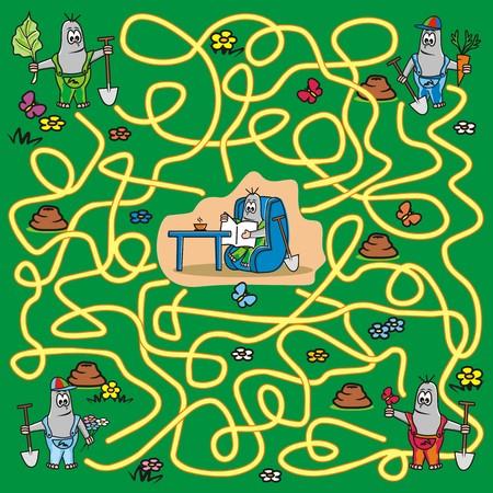 animal den: maze-mole