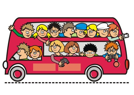 sightseeing bus  Vector