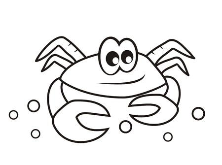crab - coloring book Vector