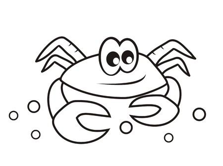 crab - coloring book Vector