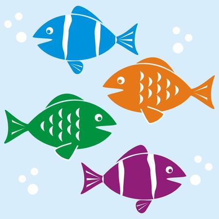 aquarist: Fishes illustration Illustration