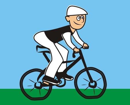 bicycling: cyclist Illustration