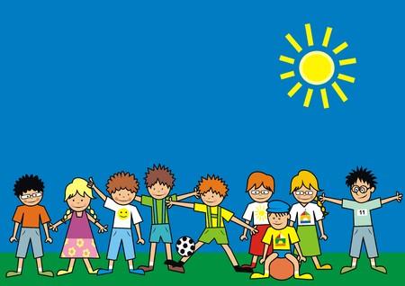 glass ball: children - dress Illustration