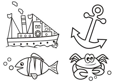 scalar: ocean - coloring book