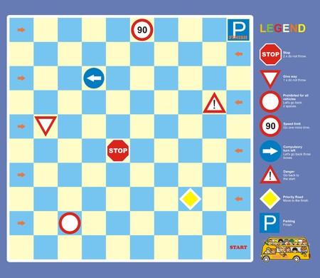delectation: game-traffic signs  Illustration
