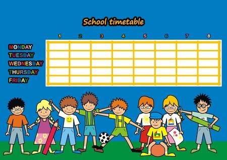 school agenda: Horario de la escuela