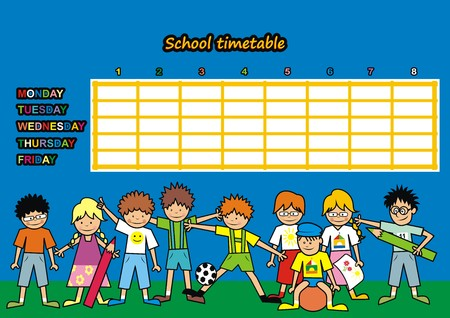 School timetable Illustration