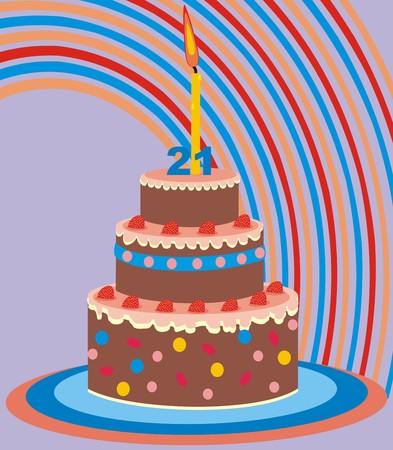 cake 21 years Illustration