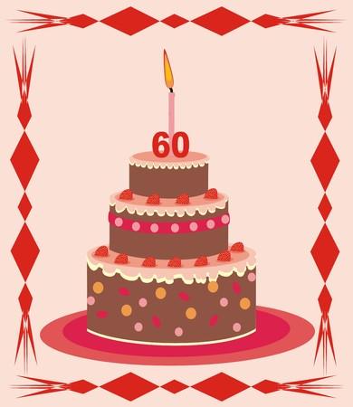 60: bolo - 60 anos