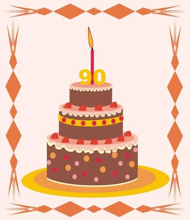 90 years: cake - 90 anni