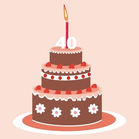 40: cake - 40 years