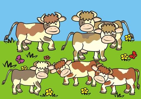 pasturage: cows