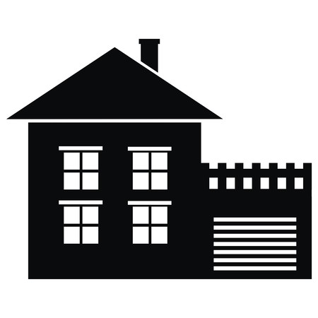 garage on house: House and garage