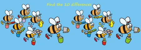 puzzlement: bees - find the ten differences