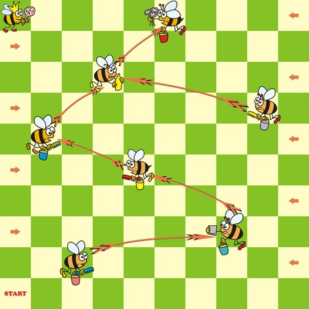 board game with bees Vector