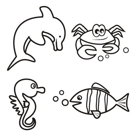 aquarist: marine life - coloring book