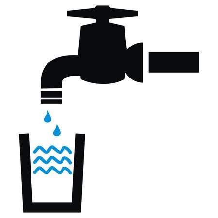 conduit: faucet - symbol  Illustration