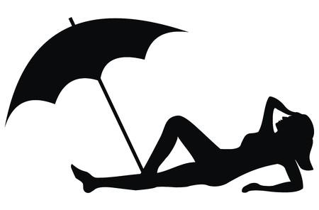 strand - zwarte teken