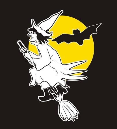 crone: witch Illustration