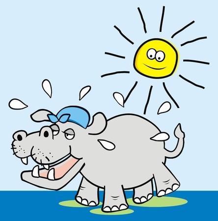 Hippo Illusztráció