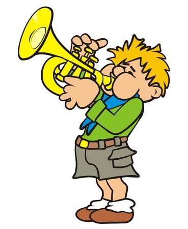 reveille: Trumpeter