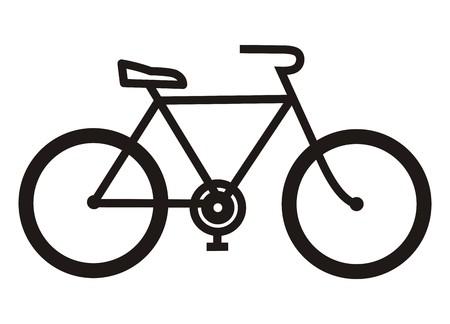 Bicicleta, silueta negro Foto de archivo - 31870393