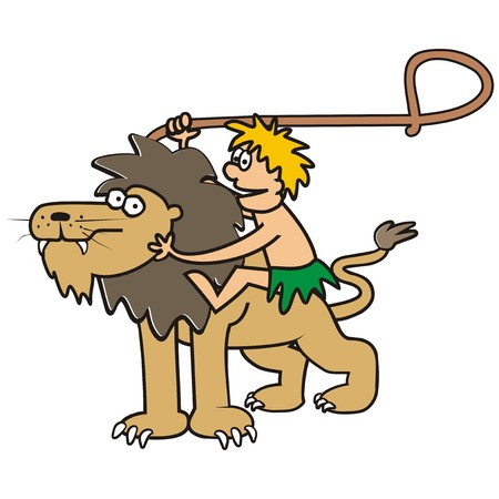 chap: Lion and man