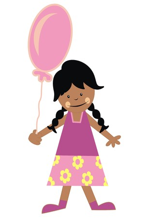 wench: girl and balloon