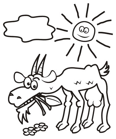 gloat: Goat and sun