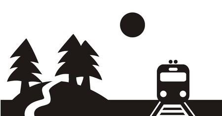 railcar: Landscape and train