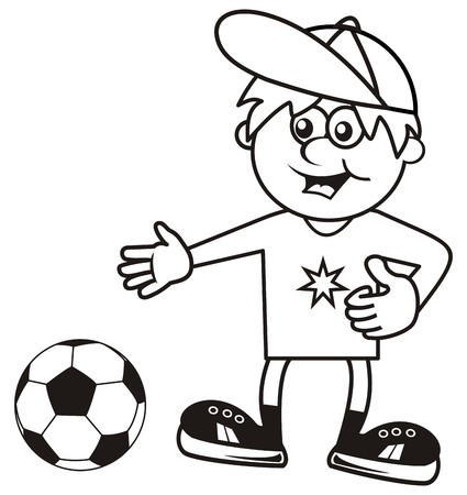 Sportsman,coloring book Vector