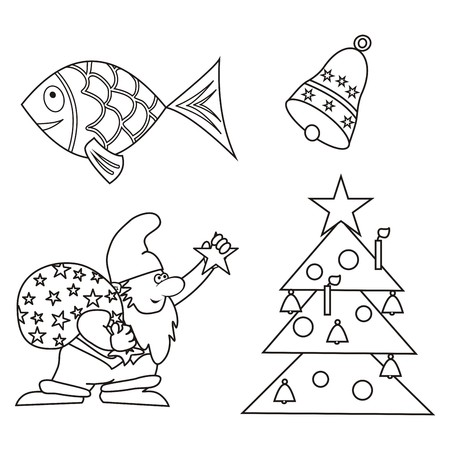 christmas coloring book stock vector 33690577