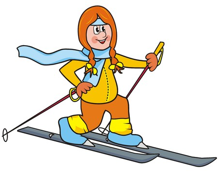 crosscountry: cross-country skier Illustration