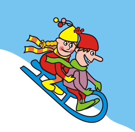 toboggan: sledding