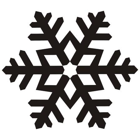 snowflake, black