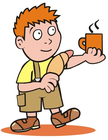 nipper: Boy and breakfast Illustration