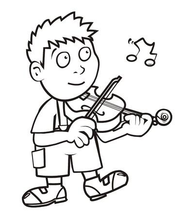 violinista: violinista, libro para colorear