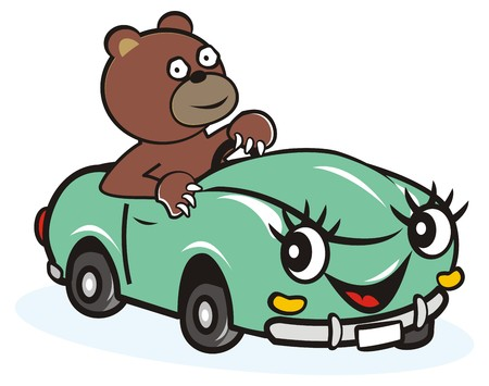 darling: car and bear