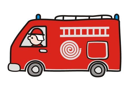 fire truck 矢量图像
