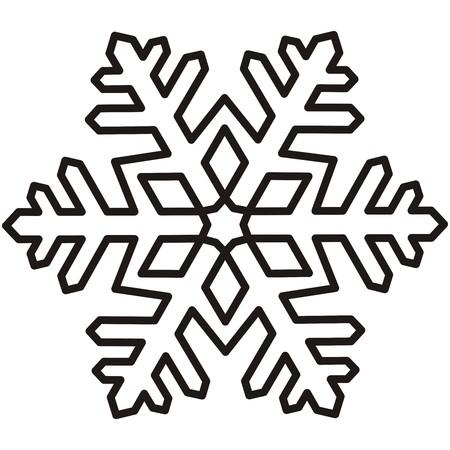 snowflake, contour