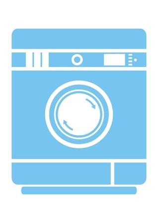 auto washing: washing machine, arrow