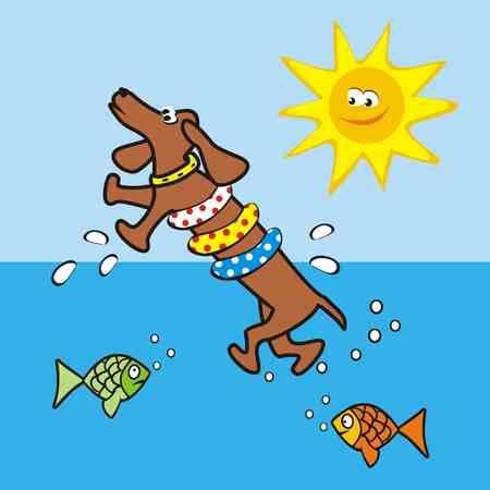 vac: Floating dog Illustration