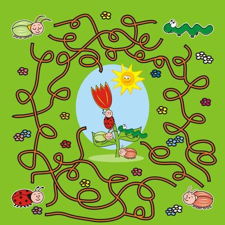 labyrinth, bugs