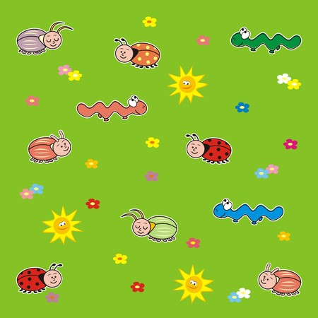 poppet: background,insect Illustration