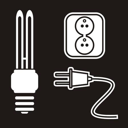 plug socket: bulb,socket,plug